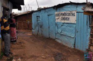трущобы Кибера церковь