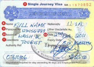 Visa to Kenya
